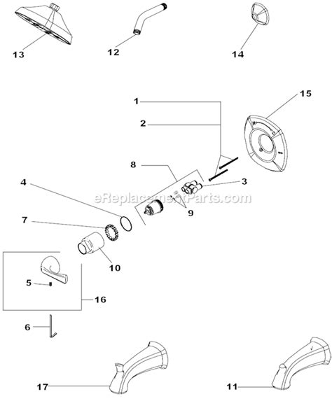 delta faucet t14092 parts list and diagram