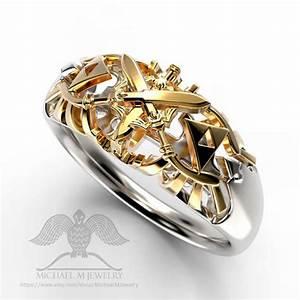 Legend of zelda triforce wedding band unisex by for Triforce wedding ring