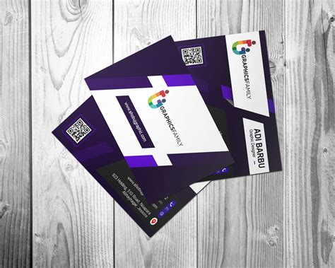 psd purple modern business card design