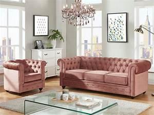Samt Sofa Rosa : sof y sill n terciopelo rosa o azul pastel chesterfield ~ Frokenaadalensverden.com Haus und Dekorationen