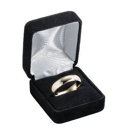 14k yellow gold wedding ring 5 mm traditional domed polished finish