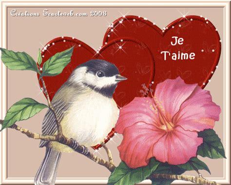 oiseau coeur fleur et je t aime centerblog