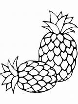 Coloring Pineapple Pages Fruits Fruit Print Printable Recommended Template Mycoloring sketch template