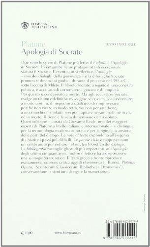 apologia di socrate testo greco libro apologia di socrate testo greco a fronte di platone