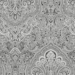 Black and White Paisley Print