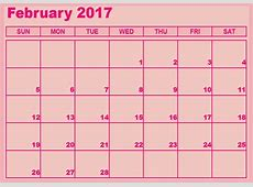 Download february 2017 calendar free Download 2019