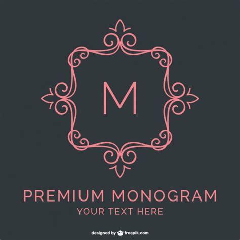 free monogram template premium monogram template vector free
