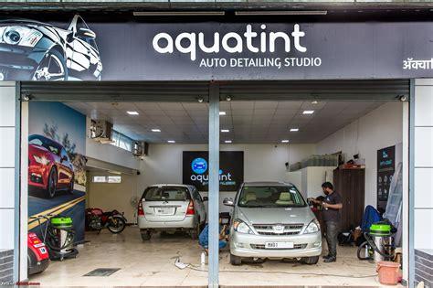 interior car wash me detailing studio aquatint pune team bhp