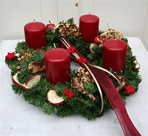 garten schubkarre kunststoff adventskranz weihnachtskranz künstlich mit 4 roten kerzen 35 cm 43384 floristikvergleich