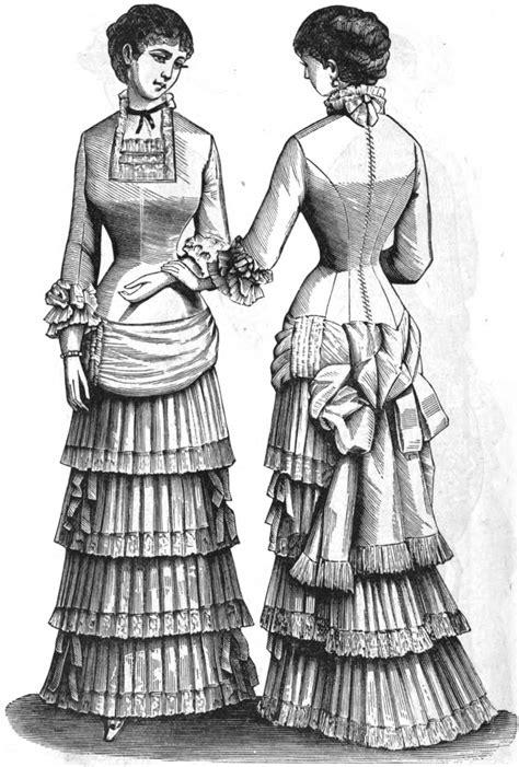 century historical tidbits  womens fashions
