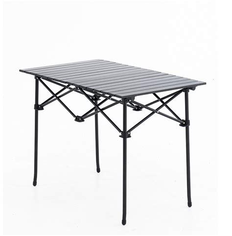 roll up aluminium table adventure kings aluminium roll up cing table 4wd