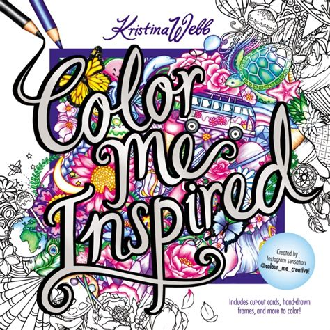 color me coloring book color me inspired webb paperback