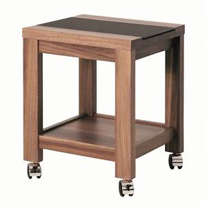 Table Sur Roulettes : table d 39 appoint roulettes mino en bois et verre tremp achat vente table d 39 appoint table d ~ Teatrodelosmanantiales.com Idées de Décoration