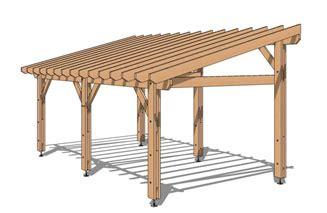 pergola de boutique en ligne de structure bois en kit
