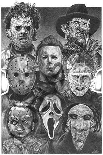 Jason Voorhees Vs Michael Myers Drawings