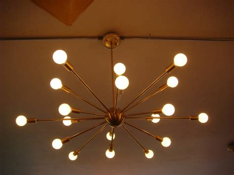 Starburst Light Fixture by Brushed Brass Atomic Sputnik Starburst Light Fixture Ebay