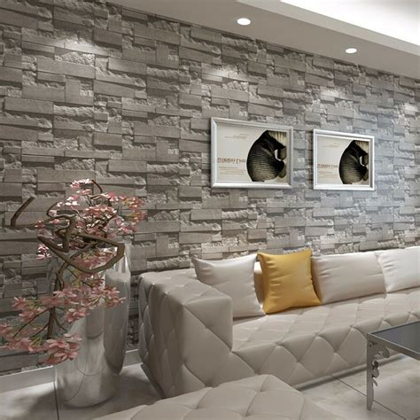3d Wallpapers For Living Room In by Modern 3d Brick Home Bedroom Living Room Wall Background