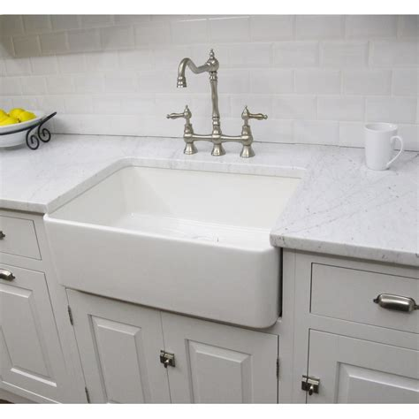 white kitchen sink faucet constructed of fireclay this large bathroom sink has a