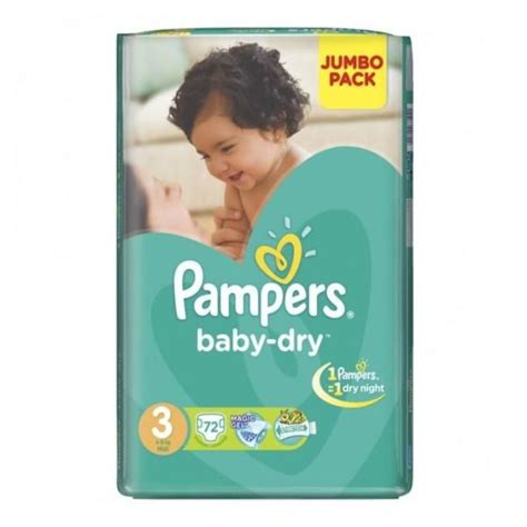 Buy Pampers Baby Dry Diapers Jumbo Pack Size 3 4 9 Kg
