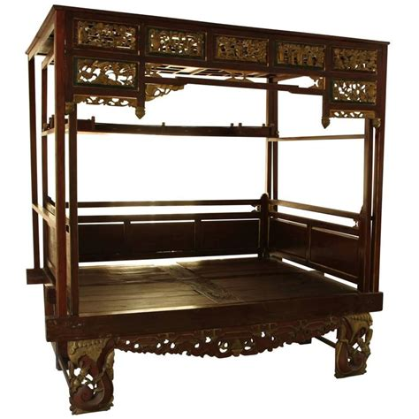 Antique Tibetan Carved Wood Opium Bed At 1stdibs