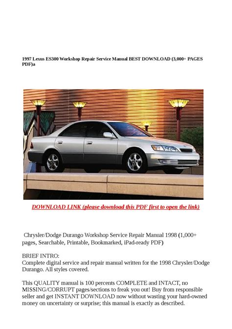 best auto repair manual 1997 lexus es engine control 1997 lexus es300 workshop repair service manual best download 3 000 pages pdf by molly issuu