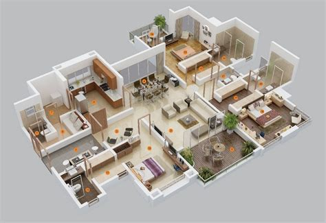 50 Three 3 Bedroom Apartment/House Plans simplicity