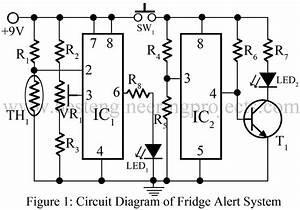 Fridge Alert System Circuit