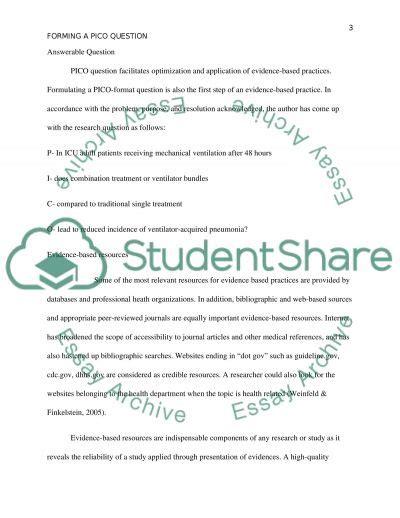 pico nursing research paper