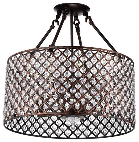 edvivi llc semi flush mount chandelier with drum