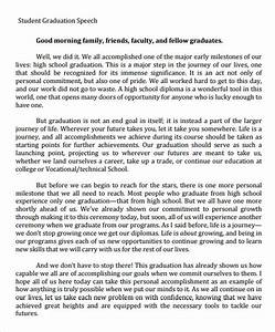 sample graduation speech 5 documents in pdf With valedictorian speech template