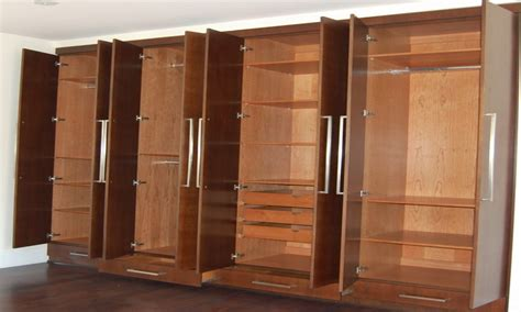 Wall Of Closets, Storage Cabinets Bedroom And Closets
