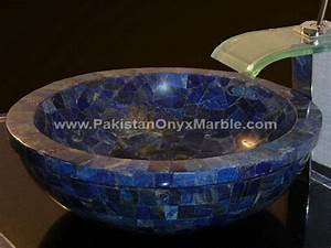 lapis lazuli gemstone sinks and basins modern bathroom With kitchen cabinets lowes with lapis lazuli wall art
