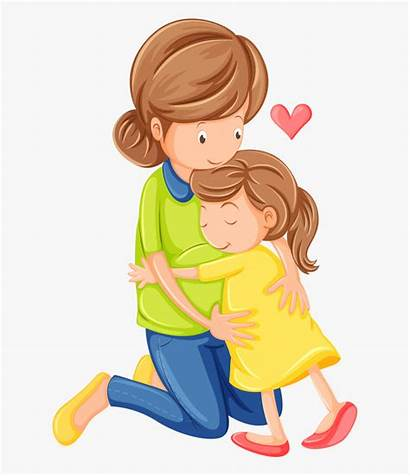 Daughter Mother Clipart Mom Cartoon Clip Hugging