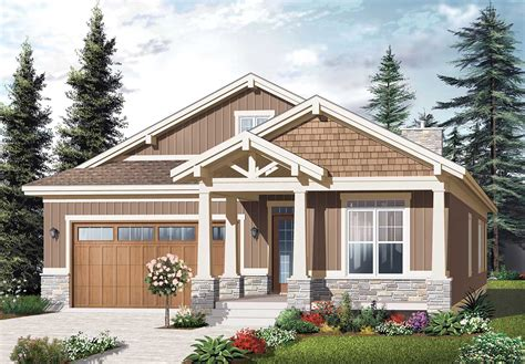 craftsman ranch nested gables dr architectural designs house plans