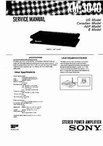 Sony Xm-3040 Service Manual