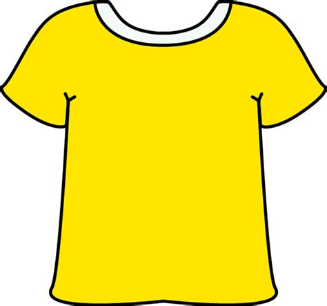 shirt yellow tshirt   white collar clip art yellow
