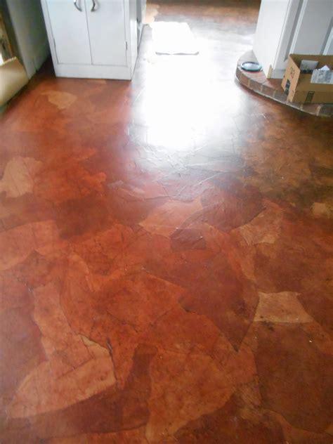 paper bag floor  asbestos linoleum