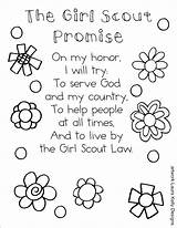 Scout Coloring Promise Printable Pages Brownie Law Daisy Printables Scouts Sheet Country Petals Sheets Bookmark Troops Activities Daisies Juniors Meandmyinklings sketch template