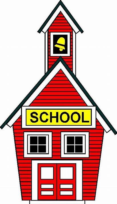 Cartoon Clipart Schoolhouse Schools Clip Cliparts Library
