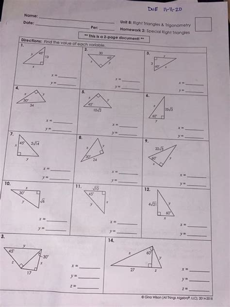 .unit 8 right triangles name per, right triangle trigonometry, trig answer key, right triangles and trigonometry chapter 8 geometry all in, geometry trigonometric ratios answer key, right triangle trig missing sides and angles, trigonometry work with answer key, trigonometry quiz gina wilson. Unit 8 Right Triangles And Trigonometry Key / Unit 3 Right Triangle Trig Mrs Anderson S Class ...