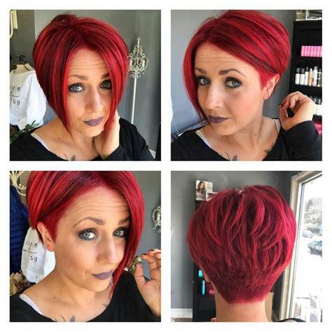 bunte haare kurz haarschnitt haarschnitt in 2019 frisuren frisur rote haare und kurzhaarfrisuren