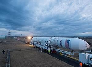 Antares Rocket Rolls Out at NASA's Wallops Flight Facility