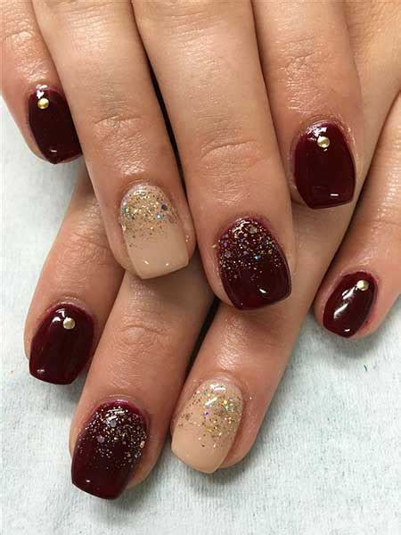 gelnägel bilder 2017 28 burgundy nails with gold design