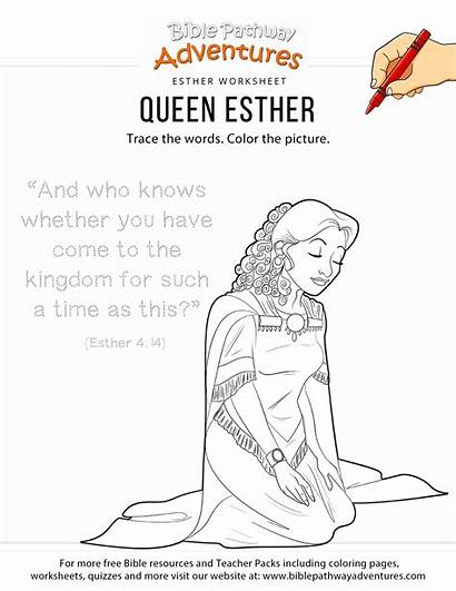 Esther Coloring Activities Queen Bible Story Lessons