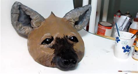 paper mache hyena mask ultimate paper mache