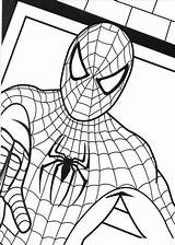 Coloring Pages Spiderman Colouring Printable Superhero sketch template