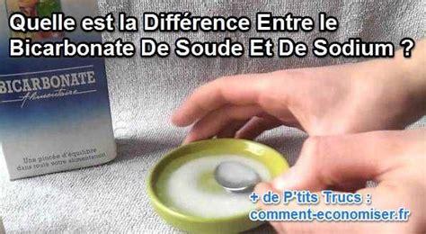 bicarbonate de soude canap quelle est la différence entre le bicarbonate de soude et
