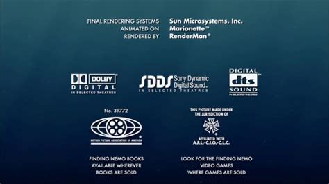 finding nemo 2003 end credits cars 2006 end credits youtube