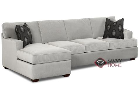 Sectional Sofa Sleeper With Chaise by Lincoln Fabric Chaise Sectional By Savvy Is Fully