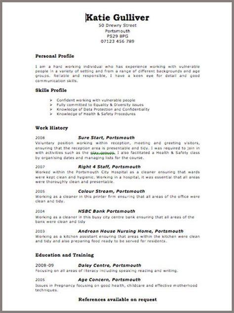 resume format uk format resume resumeformat sean